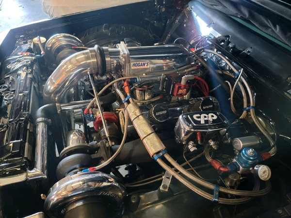 Twin Turbo SBC 406 with Twin 76's, motor combo not vehicle  for Sale $21,000