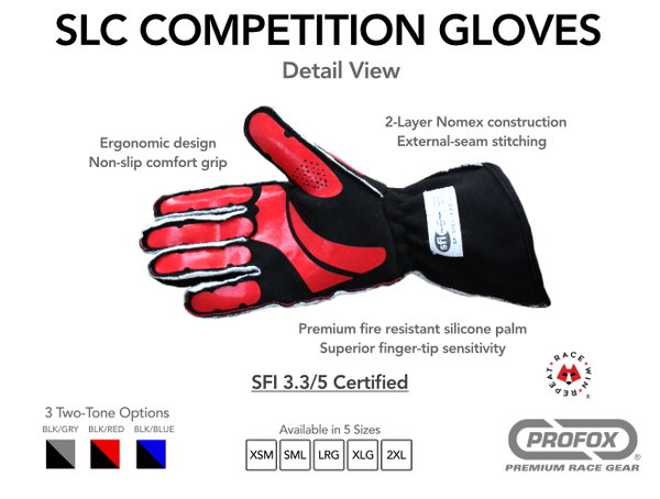 PROFOX® SLC Competition Race Gloves  for Sale $75