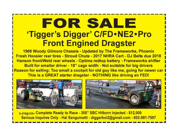 Front Engine Dragster  for Sale $12,000