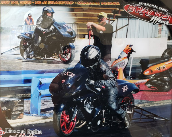 2008 ZX14 drag bike turnkey