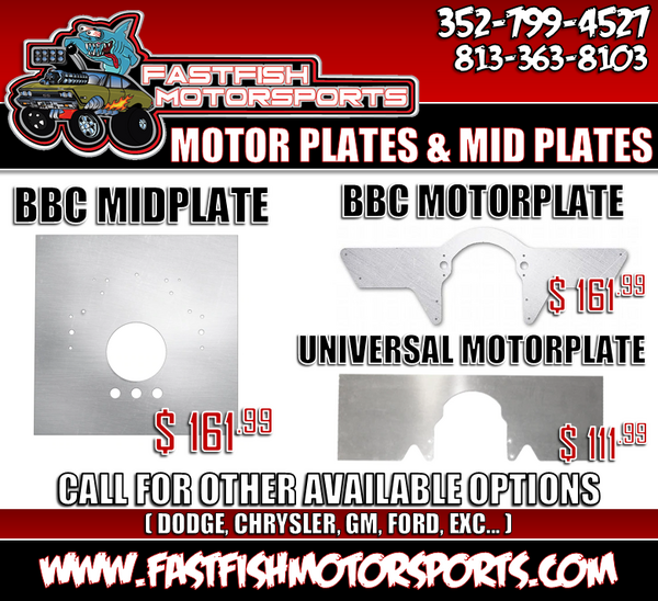 NEW! Now Selling Motor Plates & Mid Plates   for Sale $161.99