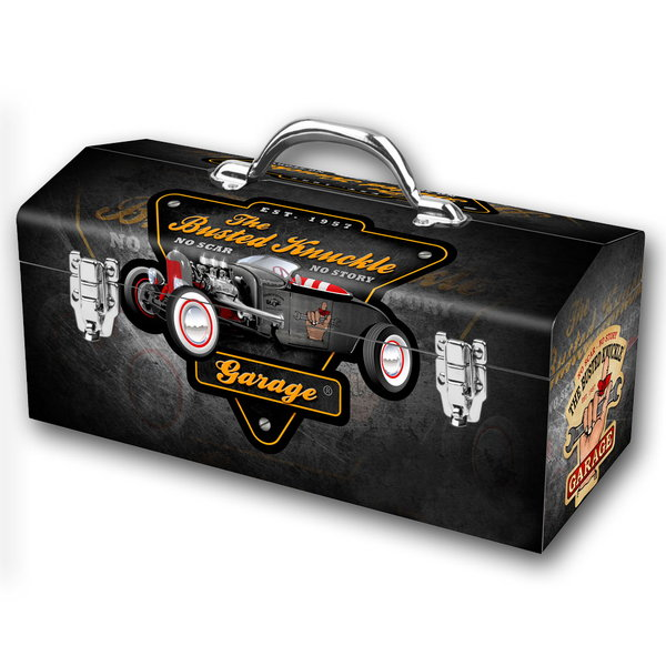 Hotrod Style Portable Steel Toolbox  for Sale $59