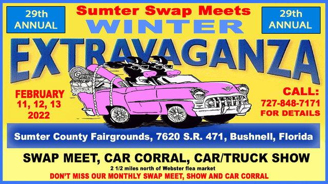 2/11/22 - Sumter Swap Meets 29th Annual Winter Extravaganza