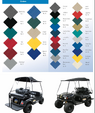 Folding Golf Cart Tops Patented Design  for sale $399