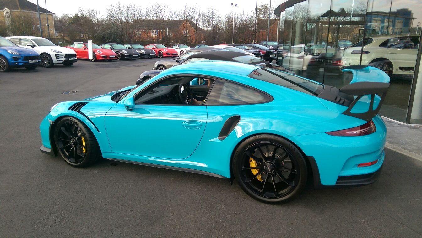Porsche Miami Blue Paint