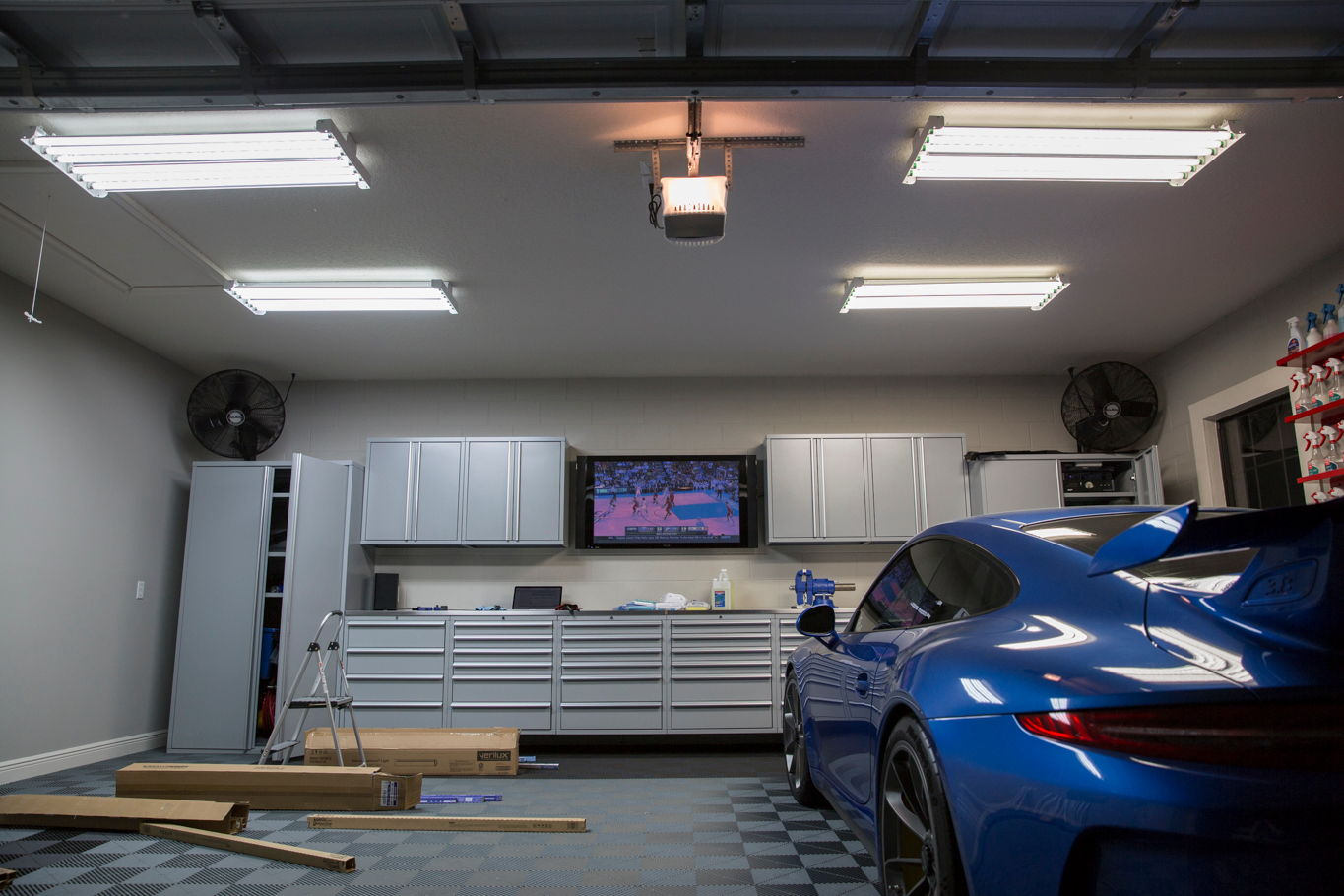 garage lighting ideas messing with lighting in the garage obsessed garage 28820