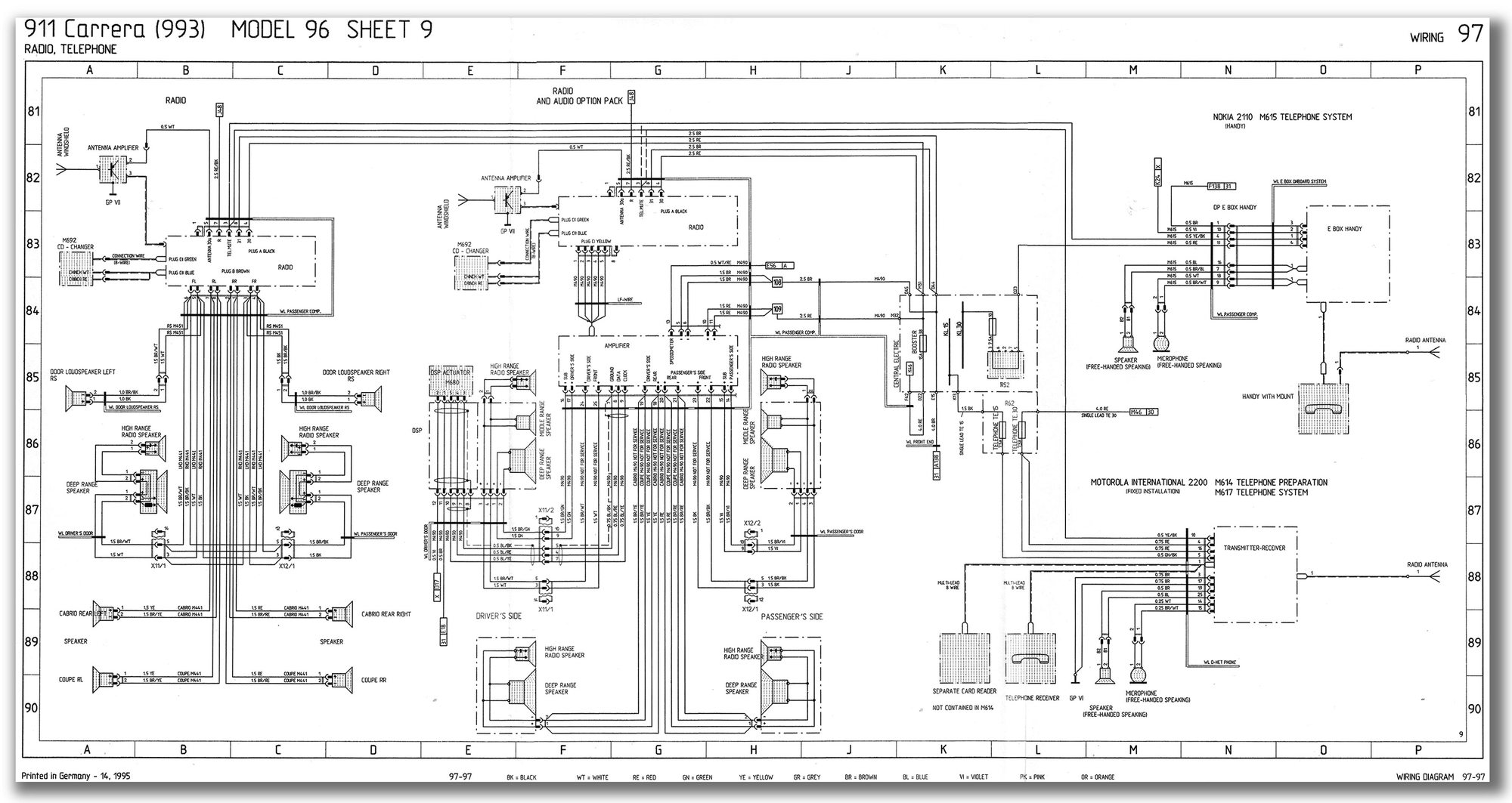 WRG-7963] Porsche 993 Radio Wiring Diagram on