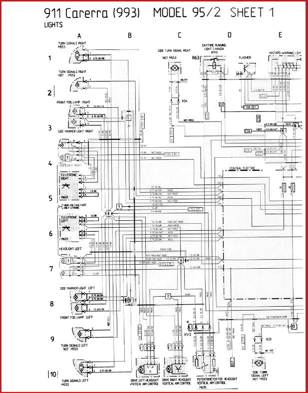 993 c4 1995 wiring diagram - hazards  - rennlist