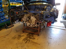 removing GT500 engine+trans+headers