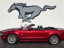 Ruby with Gale Halderman, lead designer on the original Mustang.