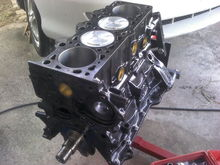 Shortblock assembled with .040 over 1.8L (higher dome) pistons, King bearings, Hastings chromemolly rings.