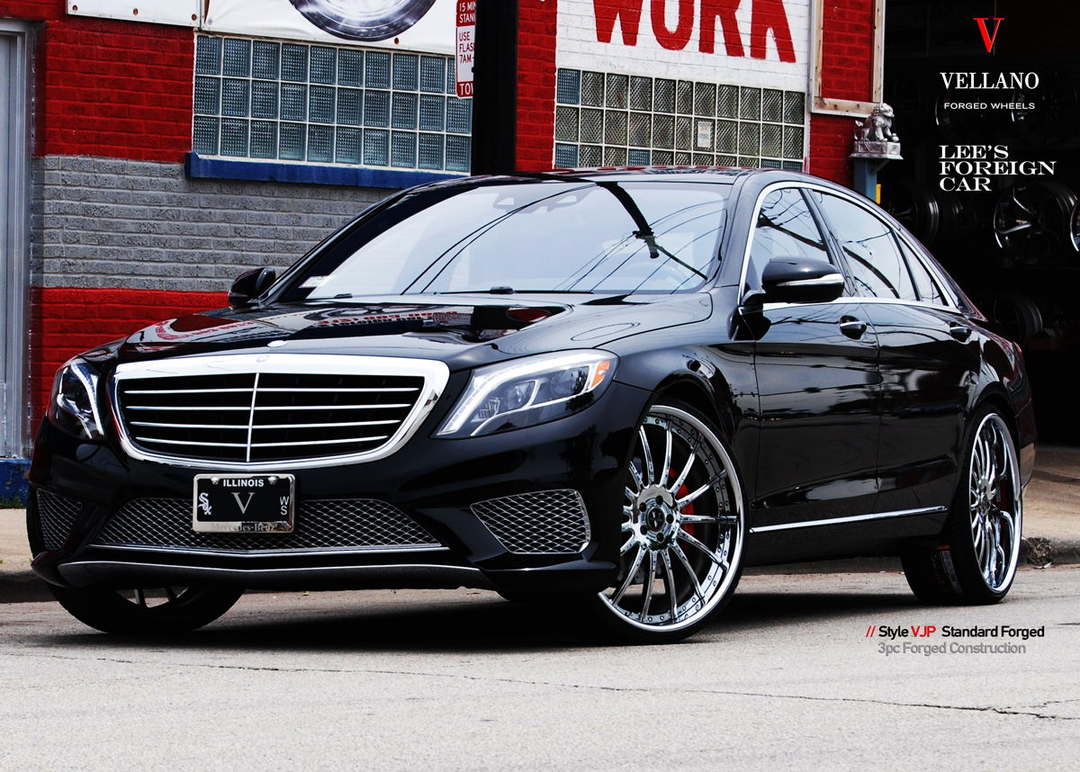 Luxury deep dark blue mercedes benz s550 with custom for 24 inch mercedes benz rims