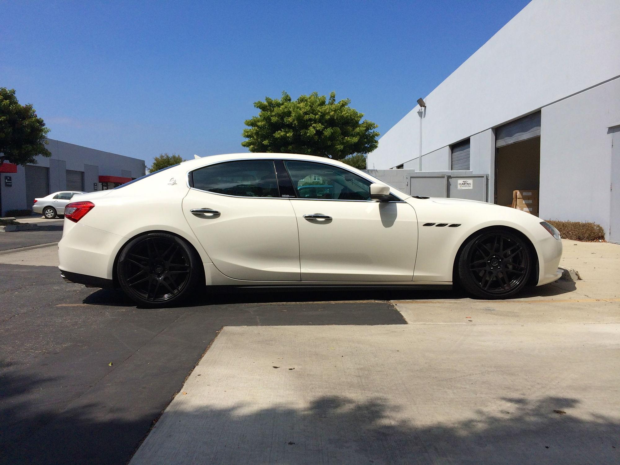"Used Maserati Ghibli >> Maserati Ghibli Lowered on Megan Coilovers and 20"" Forgestars F14 - 6SpeedOnline - Porsche Forum ..."