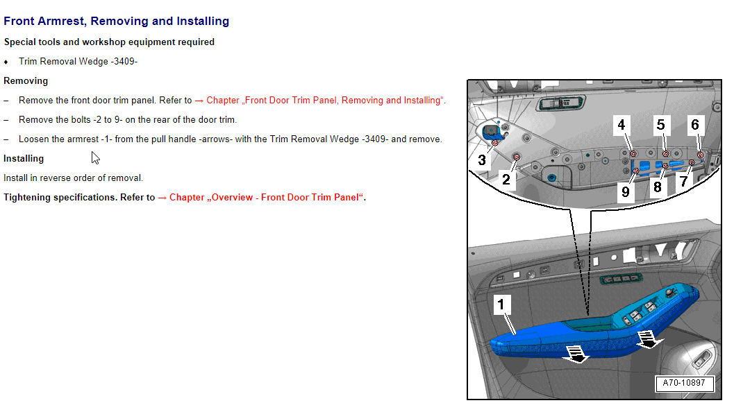 Driver door armrest removal/reinstall  - AudiWorld Forums