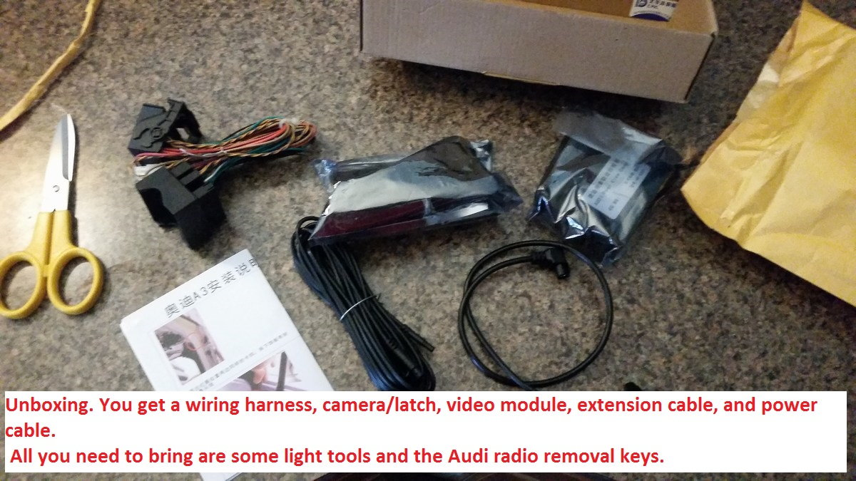 170 Reverse Backup Camera Kit And Install Audiworld Forums Wiring Diagram For Audi Q5 2016 Heres The Process If Anyone Should Wish To Do This Themselves