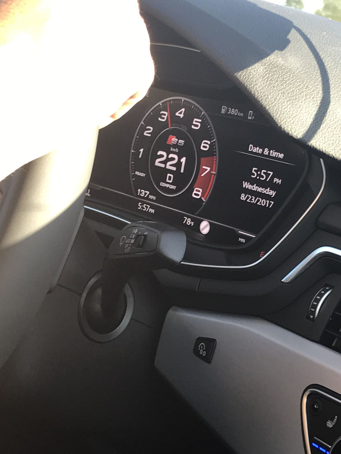 Per recommendation from the audi specialist to going above 3500 rpm