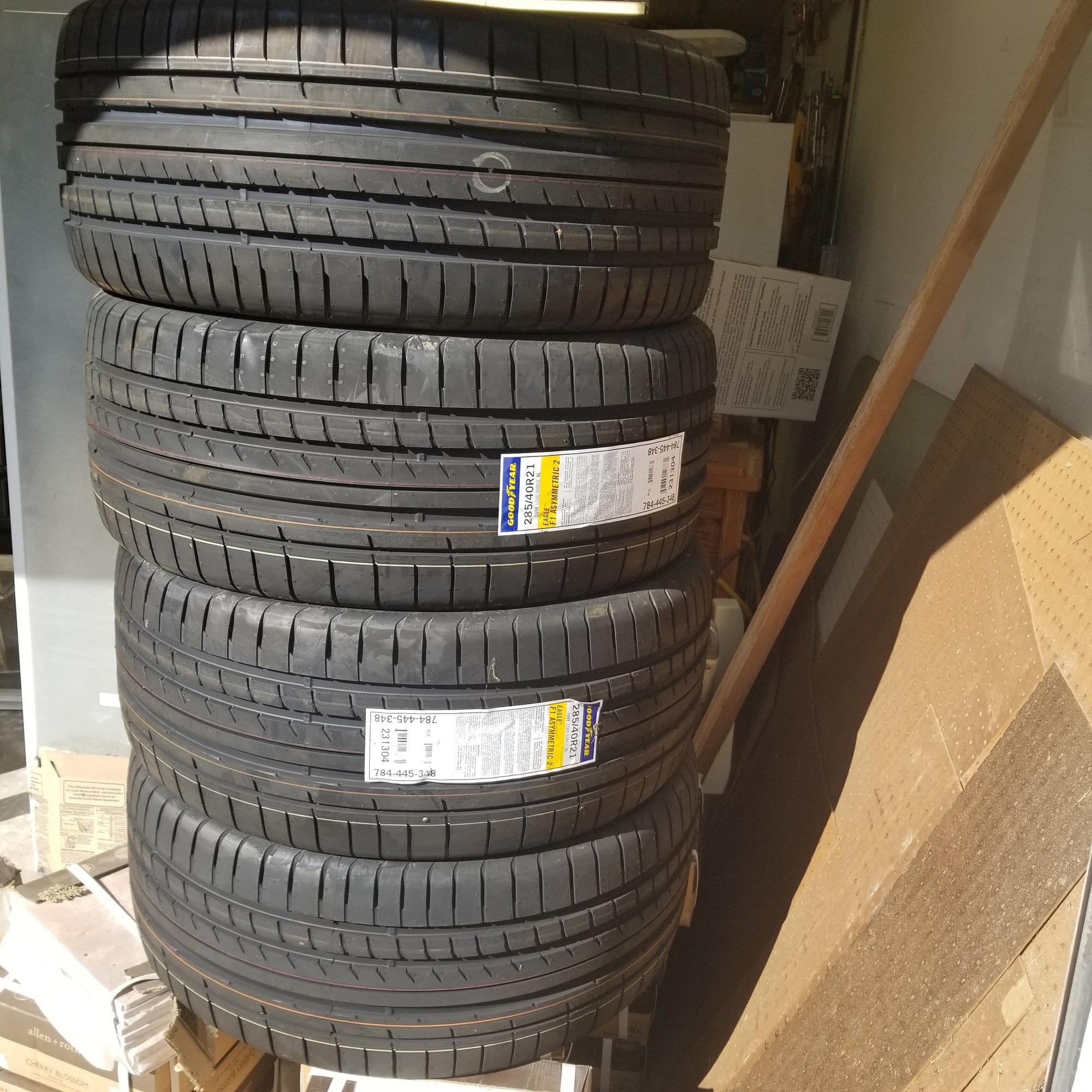 Audi Q7 Goodyear Eagle 285/40R21 Tires Set Of 4
