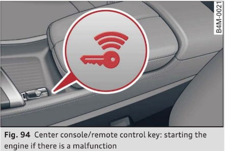 """HELP! Rental Audi R8 """"Hold back of key to designated area"""