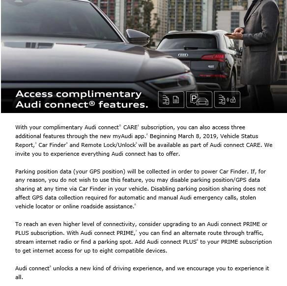 Features being added to Audi Connect CARE - AudiWorld Forums