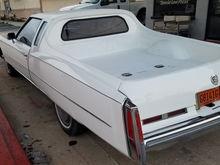 "1974 Eldo customized with bed. My ""Eldo-Camino""!"
