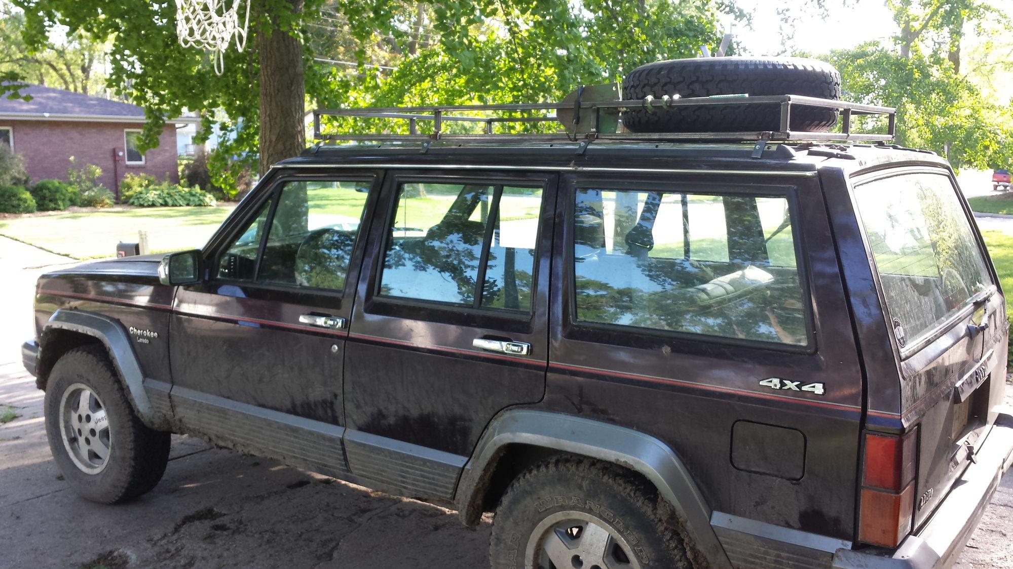 1991 jeep cherokee laredo roof rack jeep cherokee forum. Black Bedroom Furniture Sets. Home Design Ideas