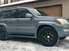 2003 GX470 in Ash Blue with Volk TE37 LARGE P.C.D. Face 2 rims.