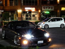 My SC and my bros and sis Honda Fit.