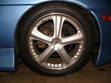 18x9.5 on the back and 18x8 on the front with 255/50 R18 tires