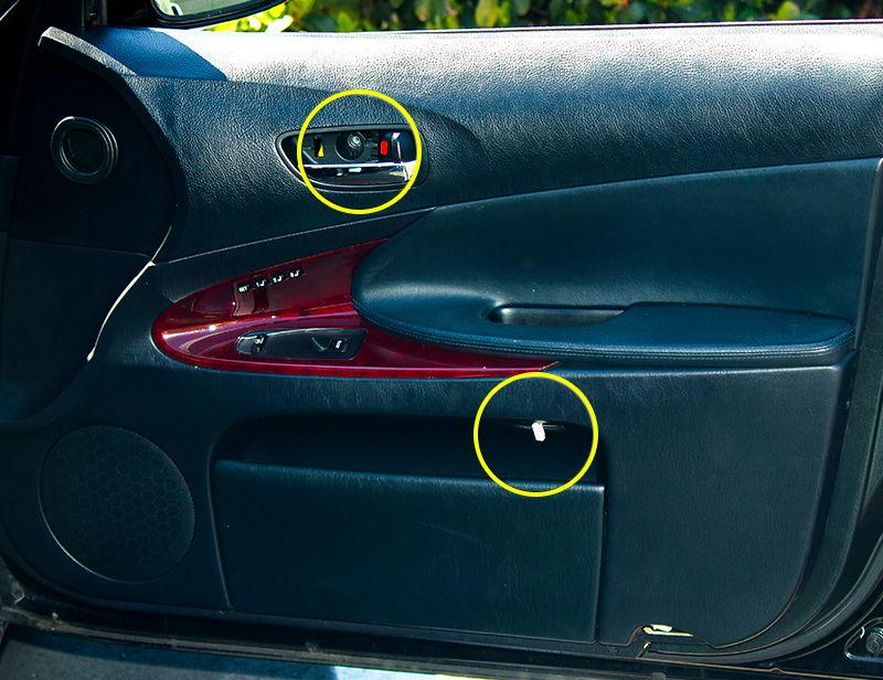 Service Manual Removing Door Panel 2001 Lexus Is Diy Door Inner Handle Lock Cable Repair