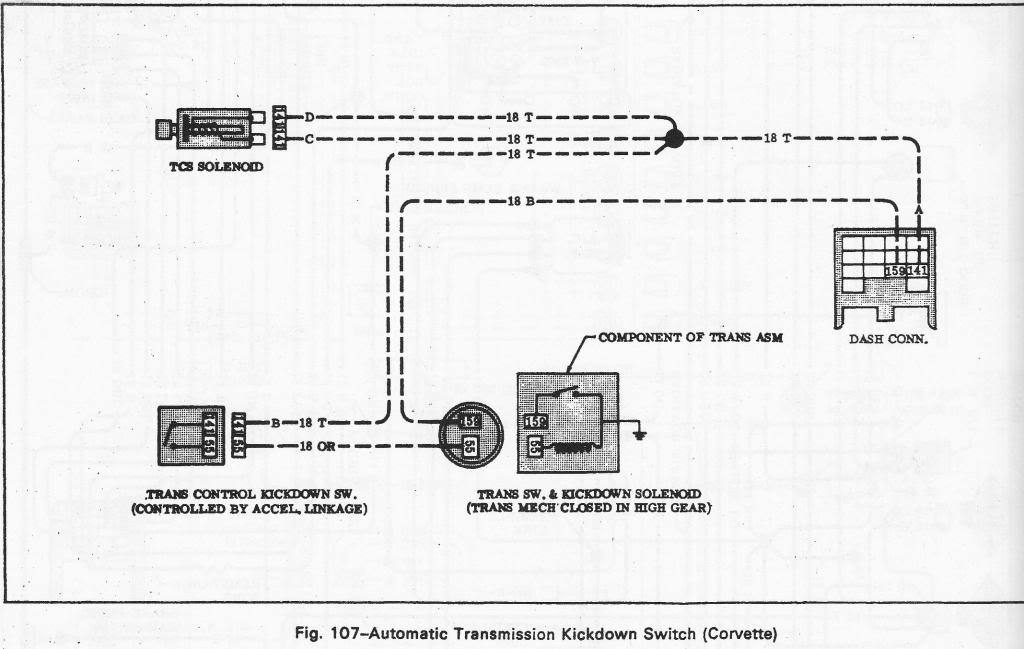 TH400 Not Downshifting - CorvetteForum - Chevrolet Corvette Forum Discussion | Turbo 400 Kickdown Switch Wiring Diagram |  | Corvette Forum