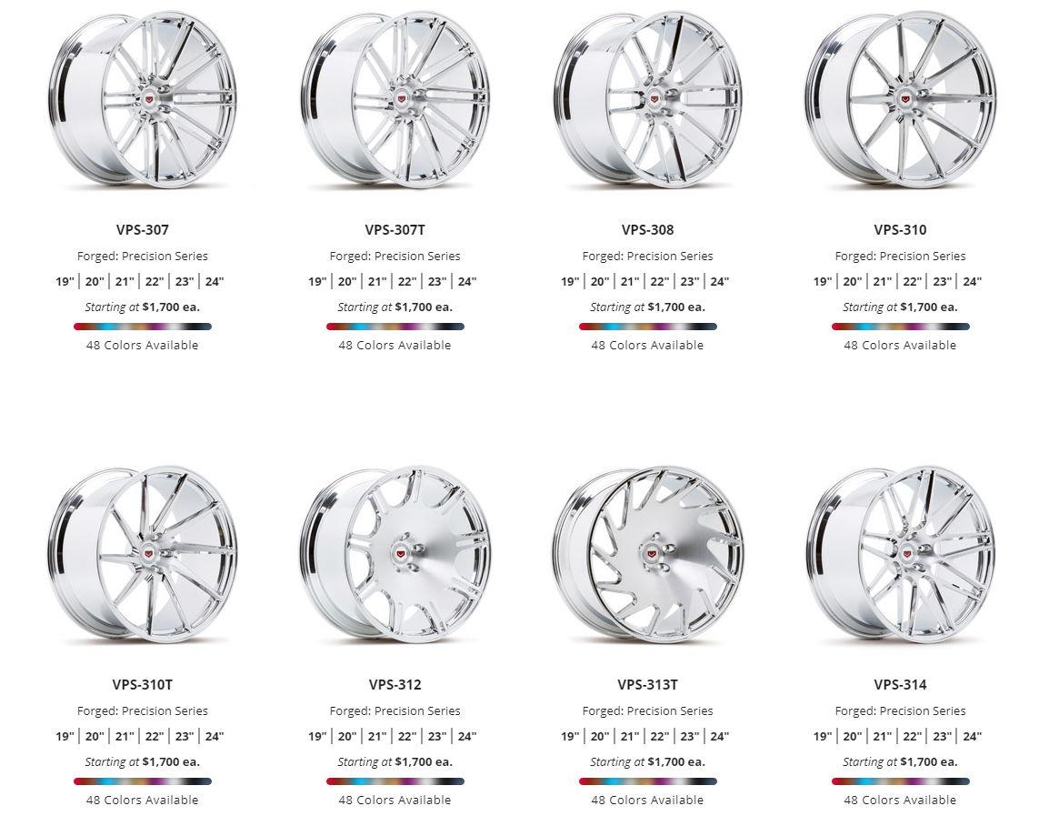 vossen wheels cv vfs lc cg vps hc vws ml