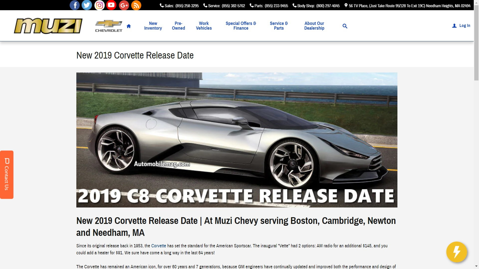 chevy dealership announces c8 reveal  u0026 production schedule