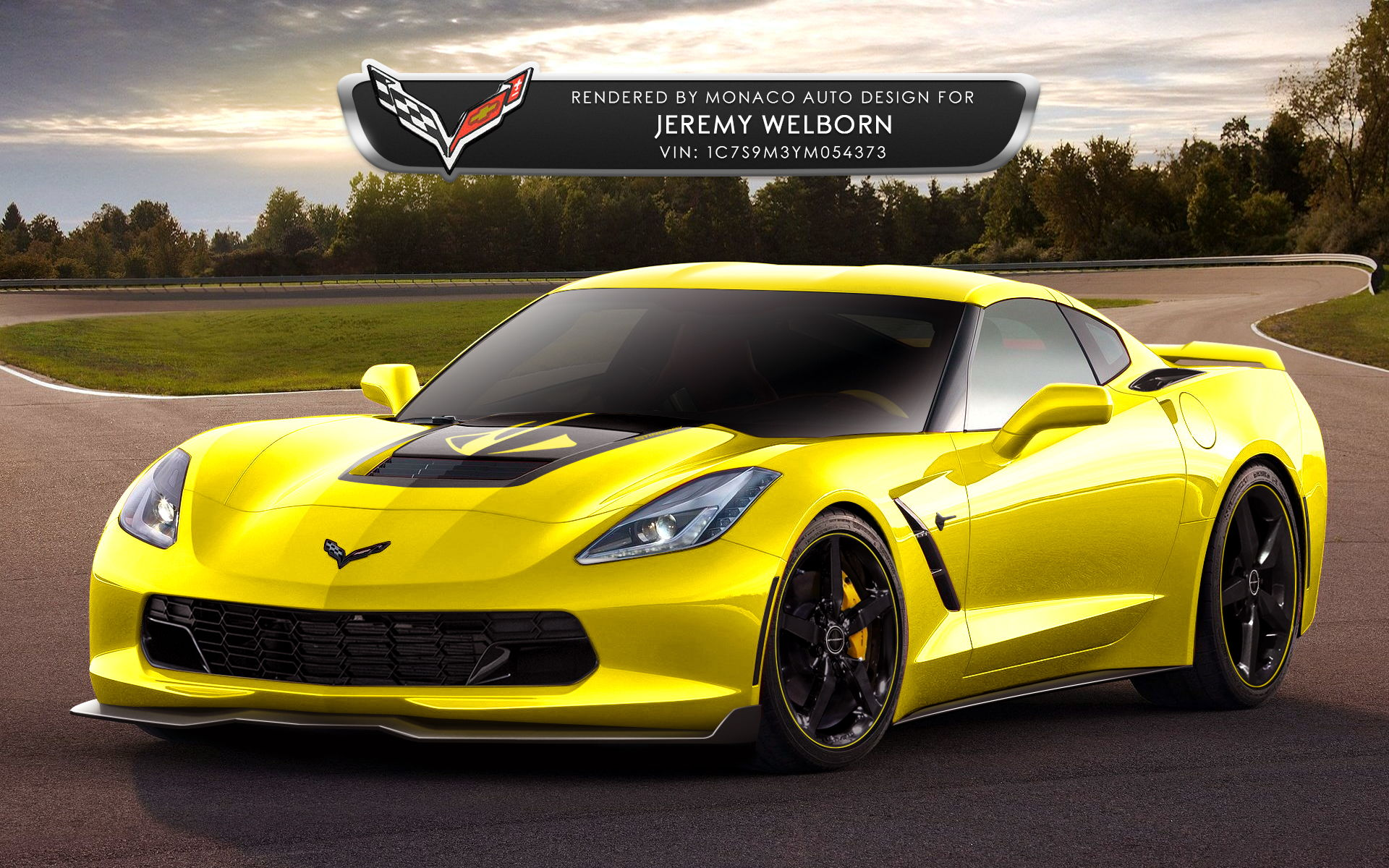 This is actually the 2nd rendering i ve done for jeremy check this one out of his c7 stingray i did a little while back