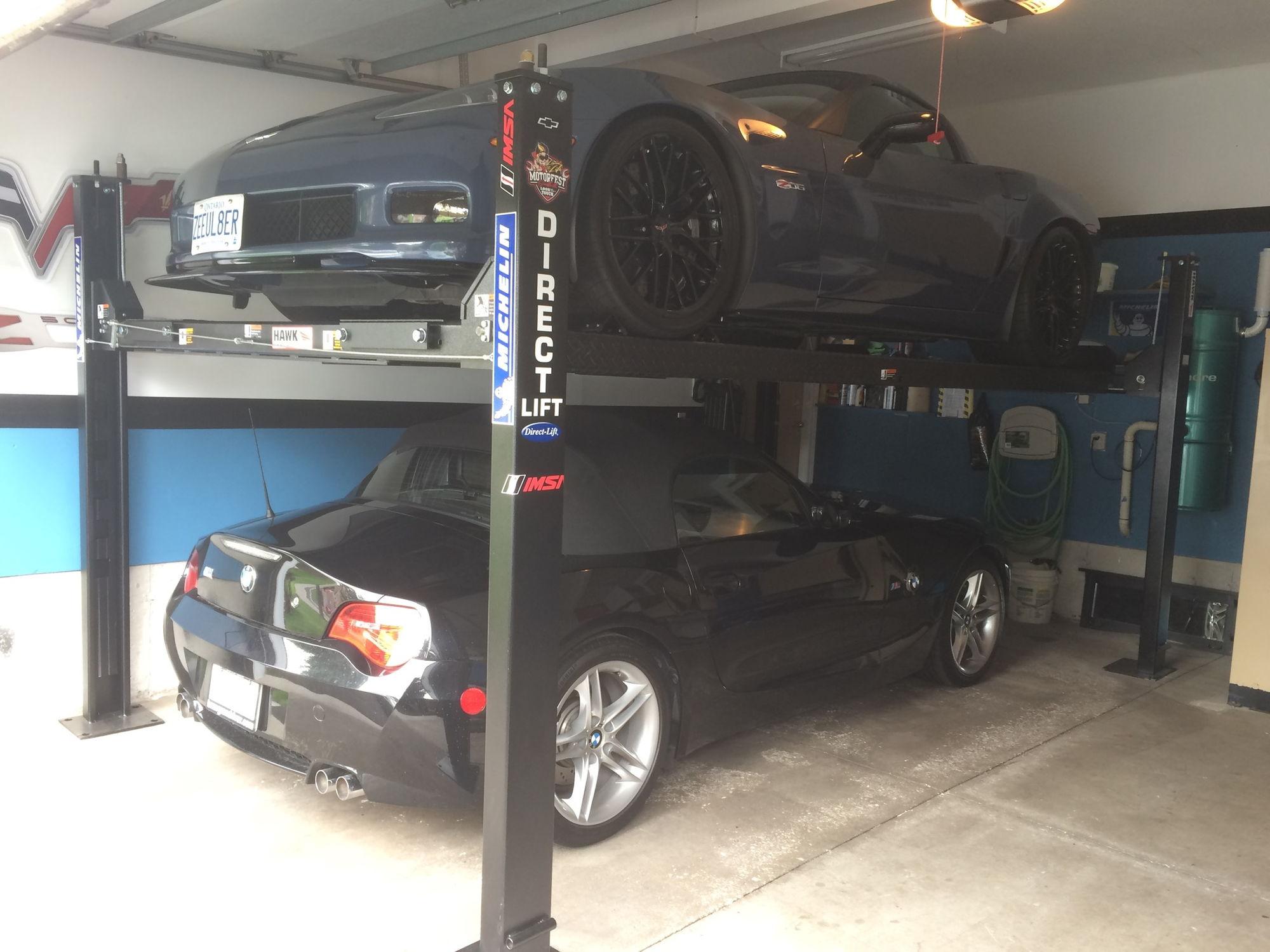 home garage lifts corvetteforum chevrolet corvette forum