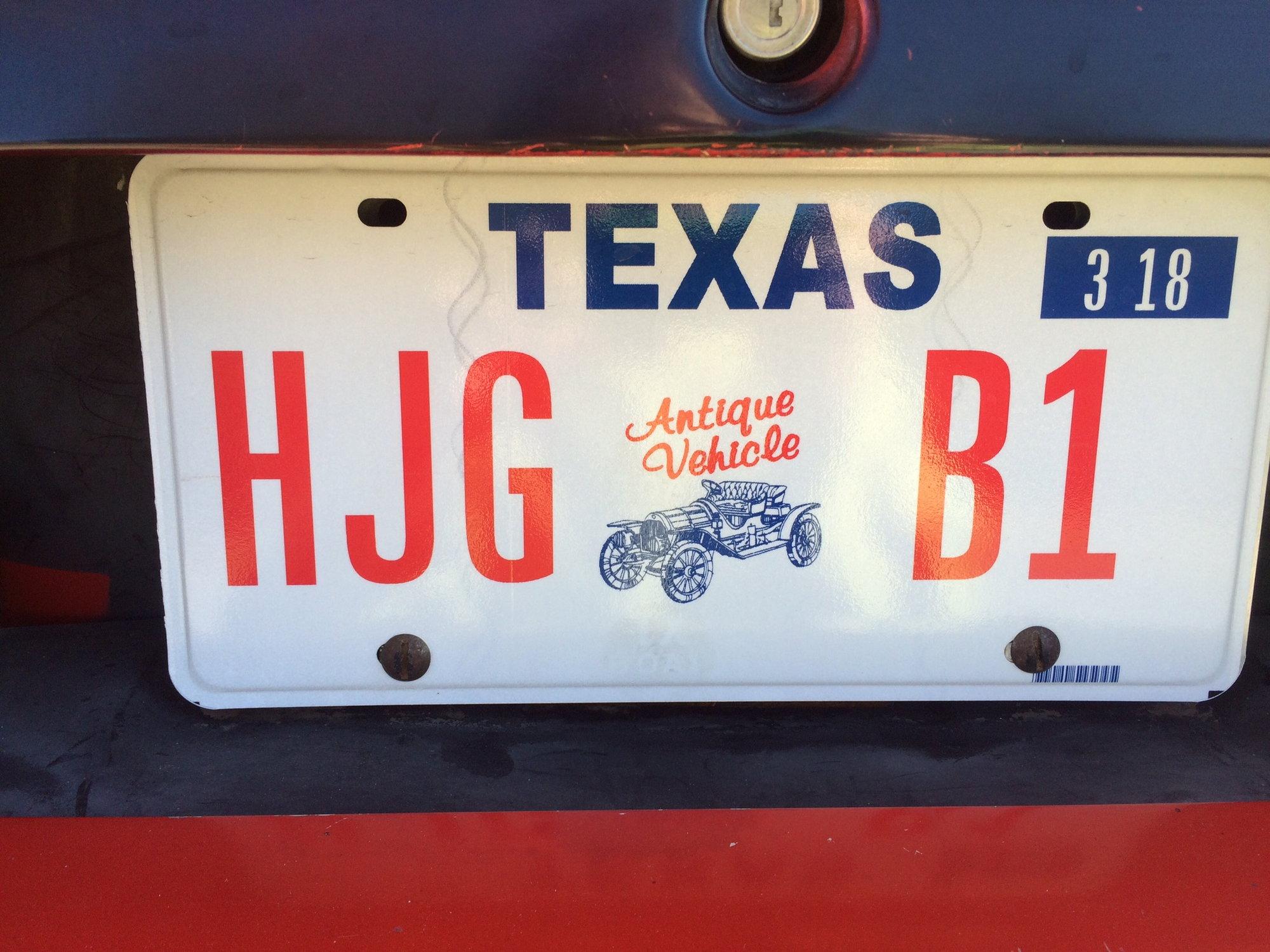 Texas Renewing Antique Vehicle Registration Corvetteforum