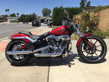 2013 Harley Breakout. Gave the Harley thing a try. Nice to look at, not so fun to ride.