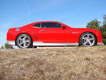2010 Camaro SS We installed LT Headers, Edelbrock Supercharger, Eibach lowering springs, Magnaflow cat back and dyno and tuned her she is a eye catcher