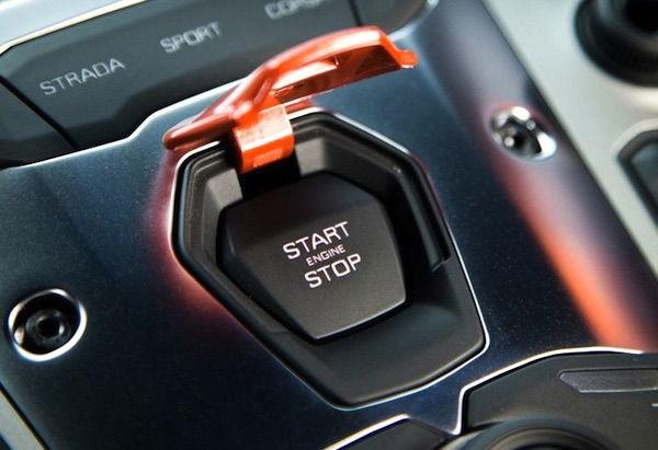 Small custom project Aventador start button ...
