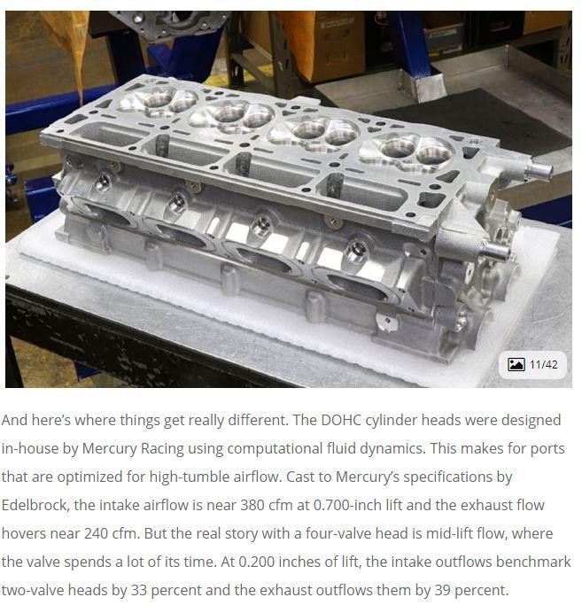 Z06 Cylinder head flows on Mercury 32-valve, DOHC LS7