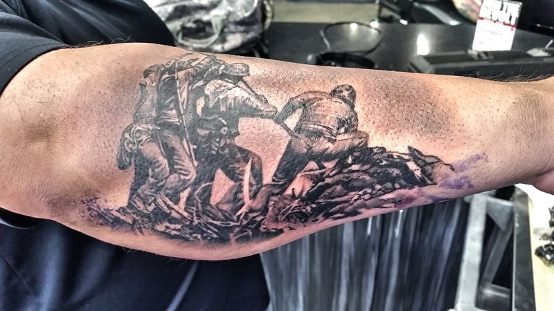 Ink master 39 winner dead at 41 page 2 corvetteforum for Iwo jima tattoo