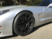 ZR1 brakes with forgeline wheels.