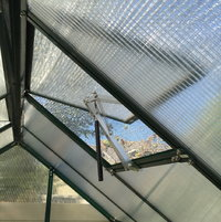 My Grandio Auto Roof Vent openers have been a life saver with the shade net this past summer. The temperatures in July and August were into the 100 degree range which in turn cranked up the heat on the inside of my Grandio Element Greenhouse. With the shade net and auto openers I was able to keep my greenhouse a few degrees cooler than the ouside temps with little to no effort.