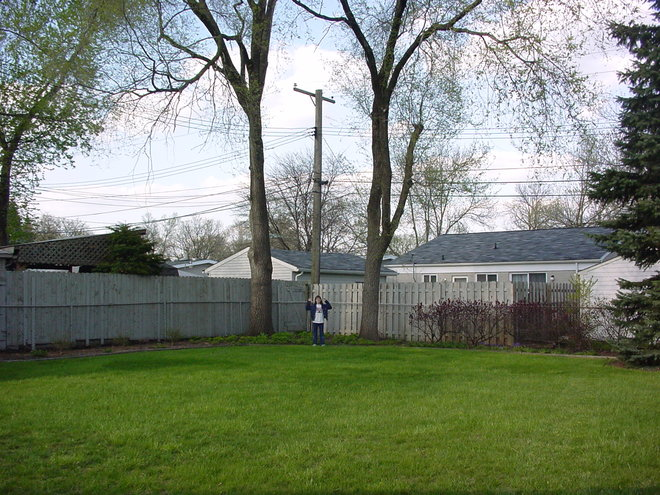 April, 2002. Before we moved into this house.