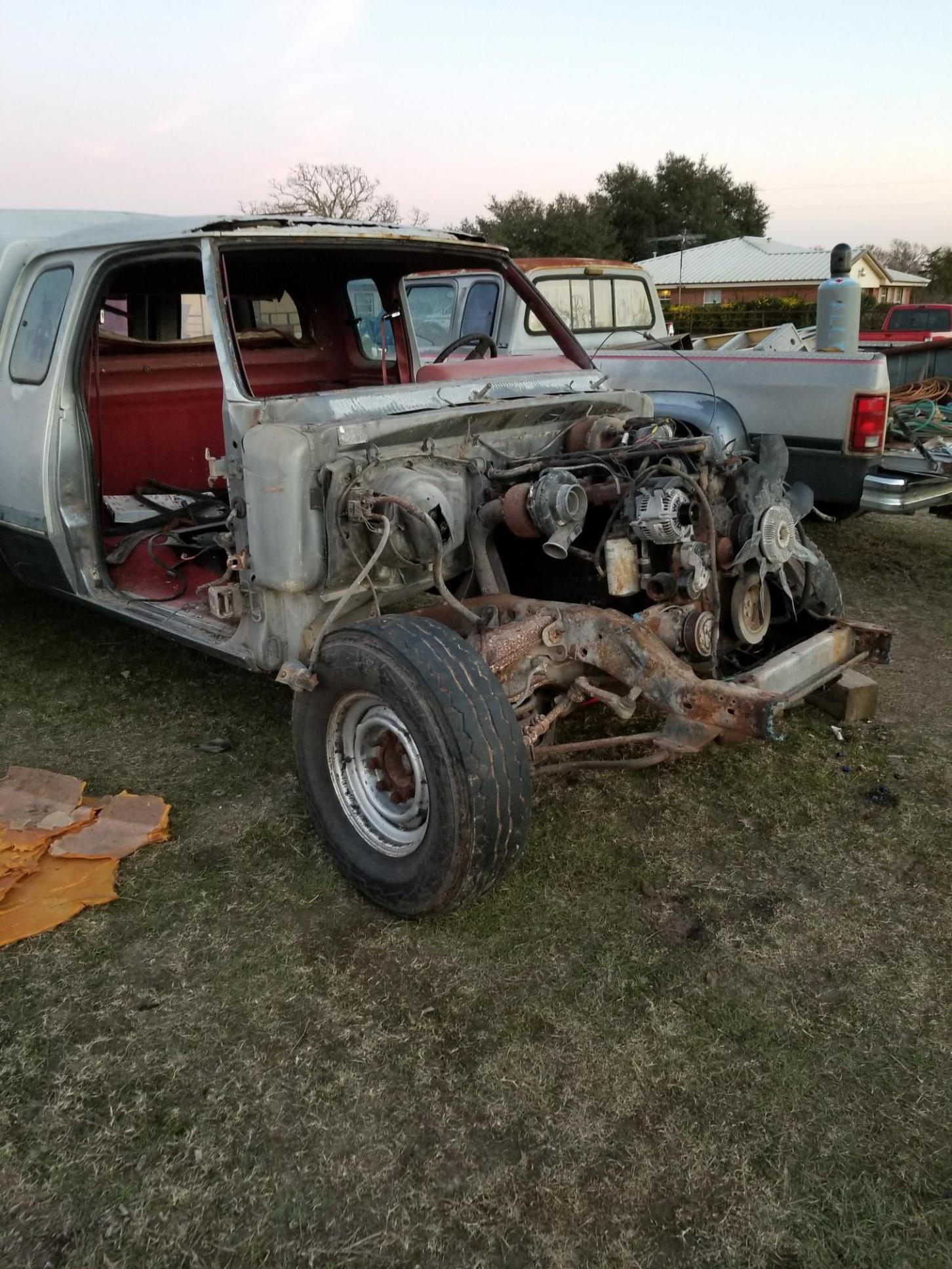 1983 D350 Crew Ctd 5speed Dodge Diesel Truck Resource Forums Chrysler Wiring Harness Pulled All The Fenders Hood Front Clip About Time To Pull Motor