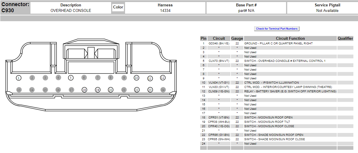 overheadconsole_1296e49a5923f0bf5dc9425fecb965d26c994e82 need a connector diagram for overhead console ford f150 forum