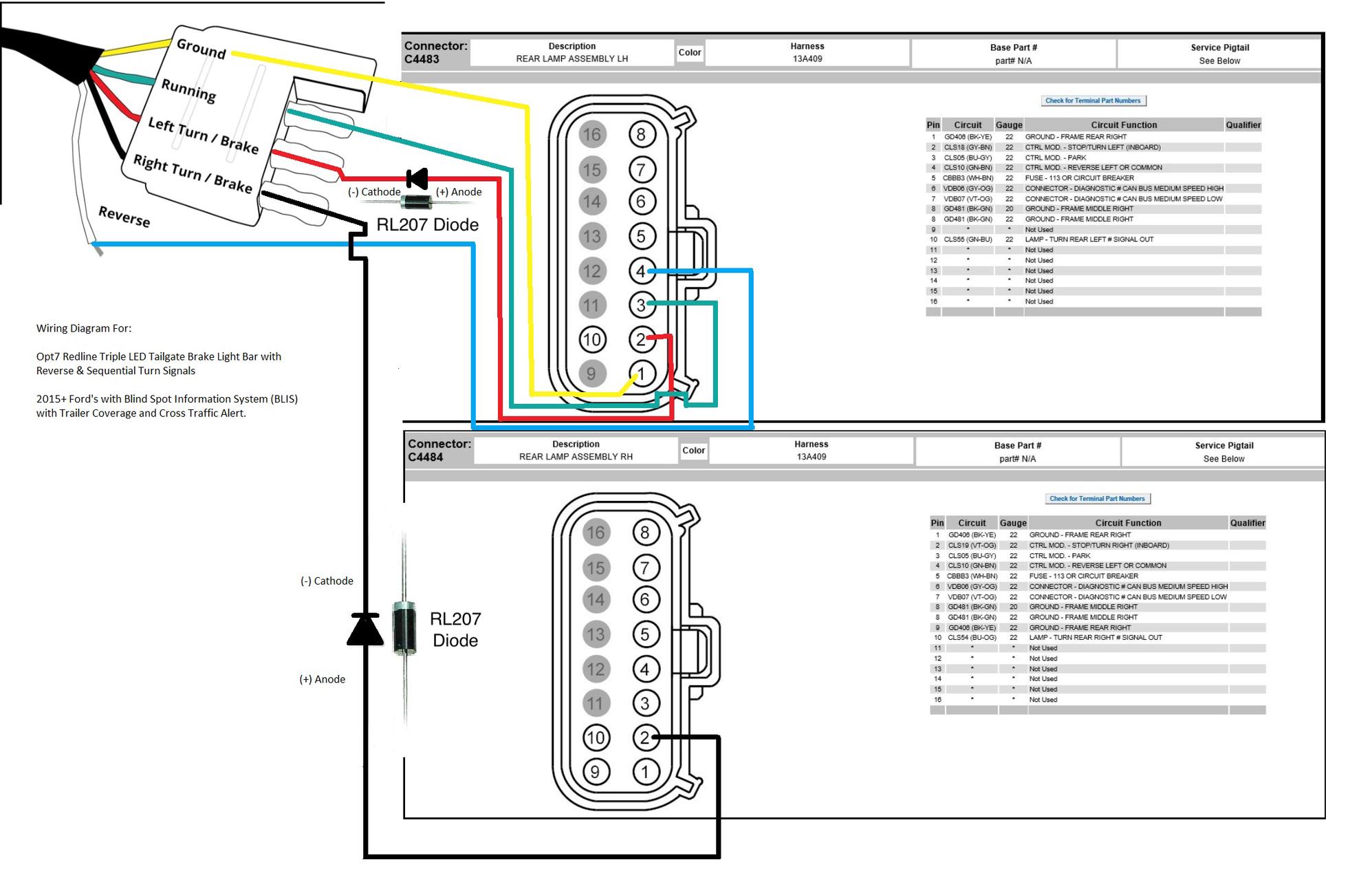 Redline Led Tailgate Light Bar Wiring Diagram