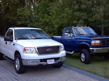 General Image  My 04 F-150 with my uncle's 97 F-350