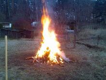 fire in the backyard