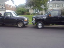 my 93 and my pop's 2010 f250 FX4. it's a sweet @$$ truck