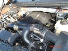 Engine Bay, the EcoBoost uses 5w-30 as it is written on the oil cap.